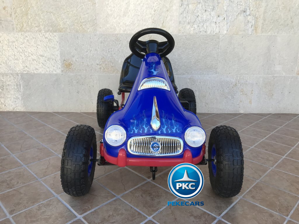 KART A PEDALES FLAME AZUL FRONTAL width=