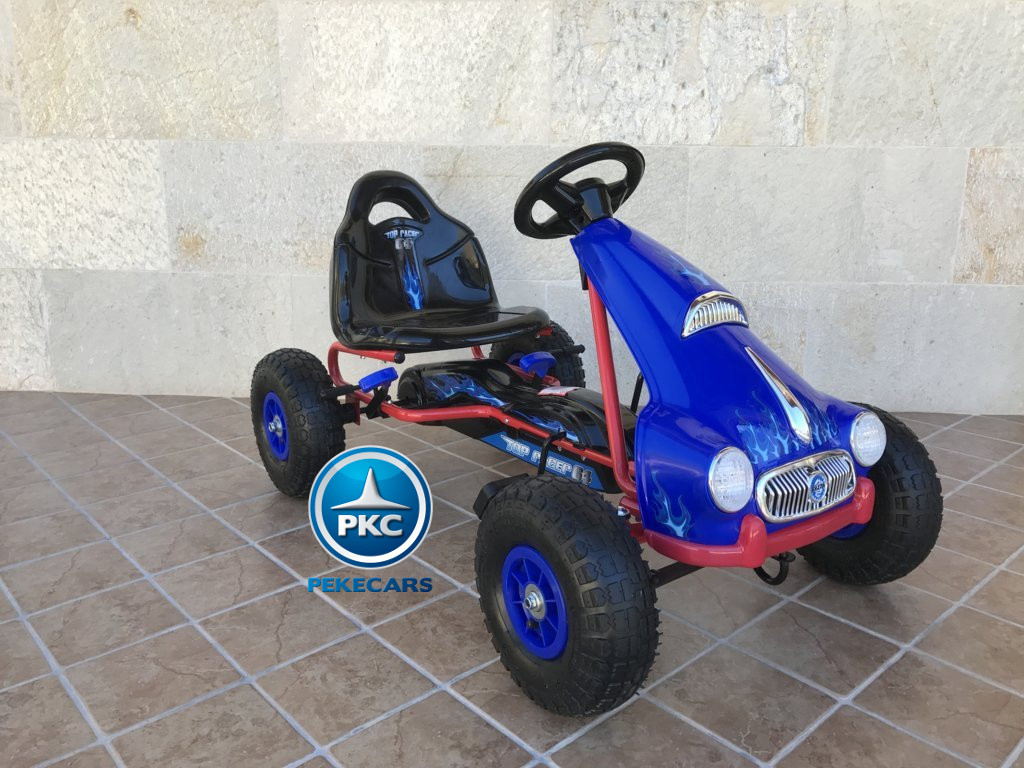 KART A PEDALES FLAME AZUL LATERAL DERECHO width=