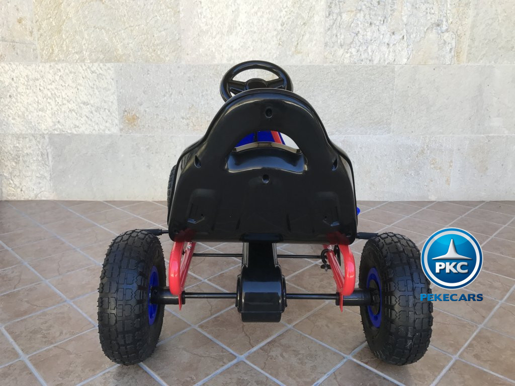 KART A PEDALES FLAME AZUL TRASERA width=