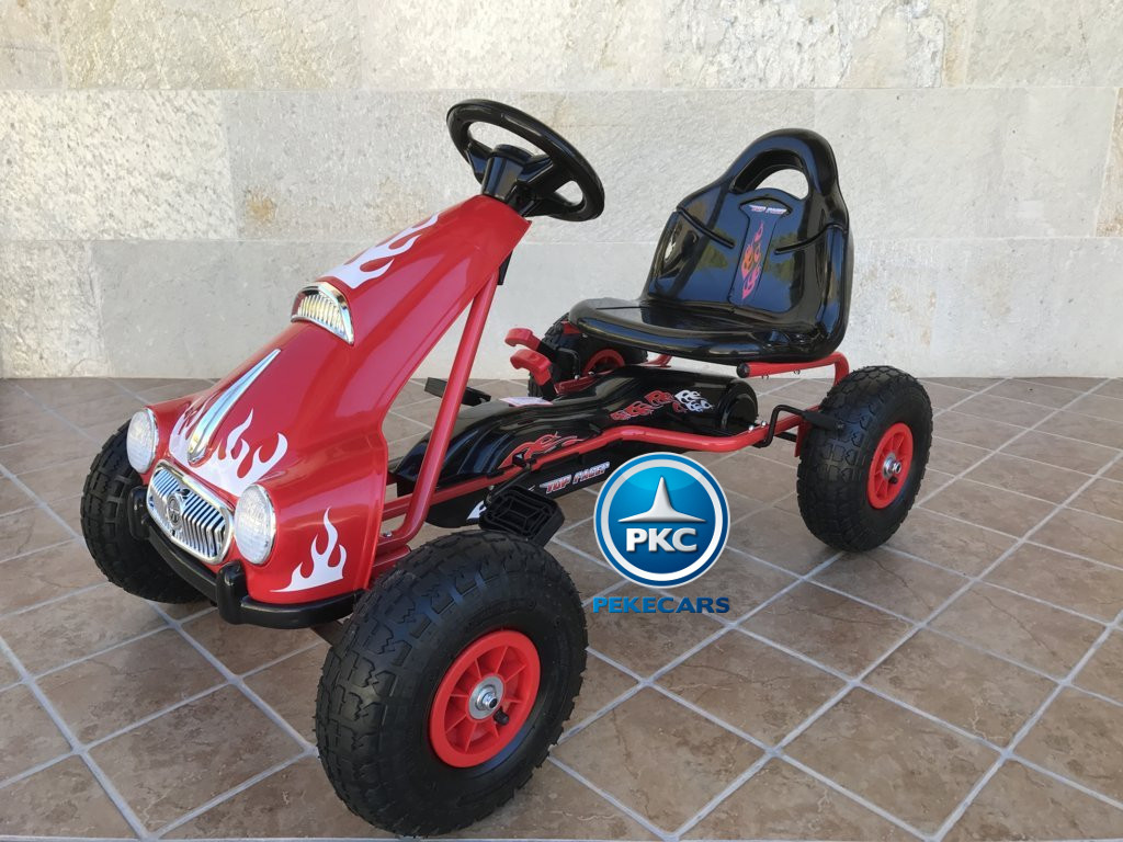 KART A PEDALES FLAME ROJO LATERAL IZQUIERDO width=