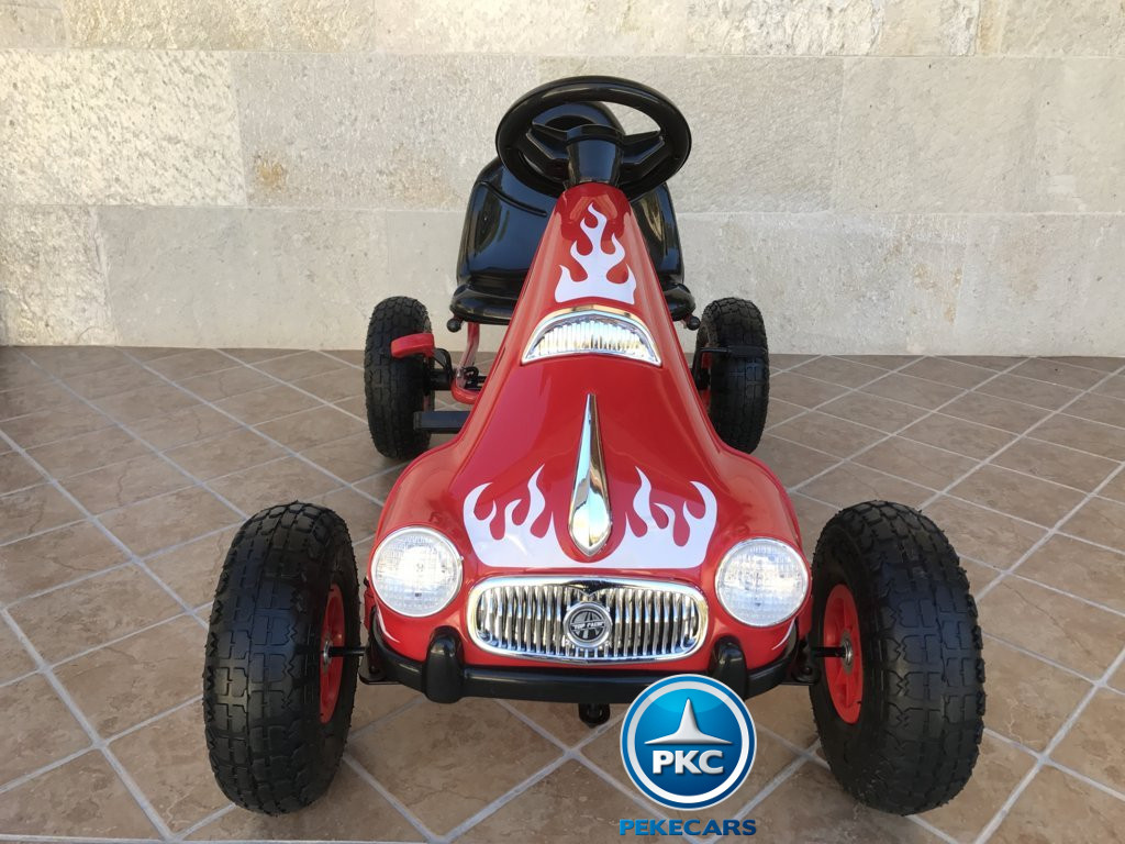 KART A PEDALES FLAME ROJO FRONTAL width=