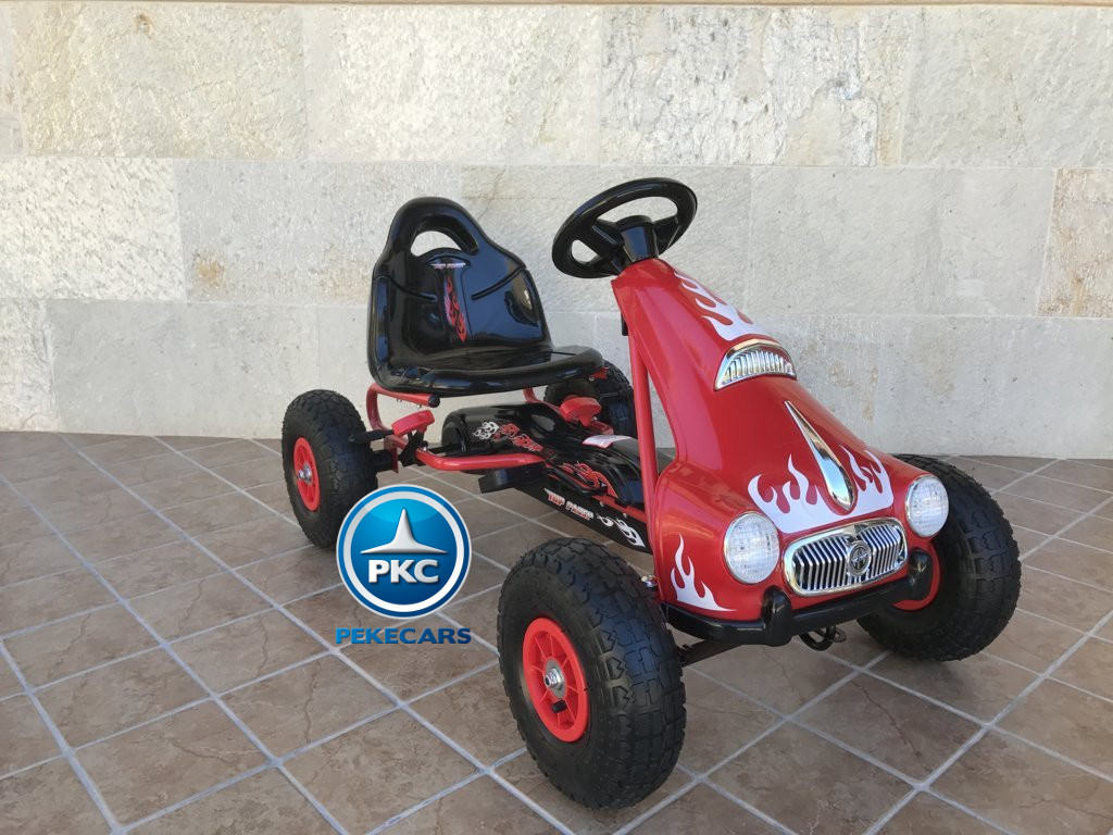 KART A PEDALES FLAME ROJO LATERAL DERECHO width=