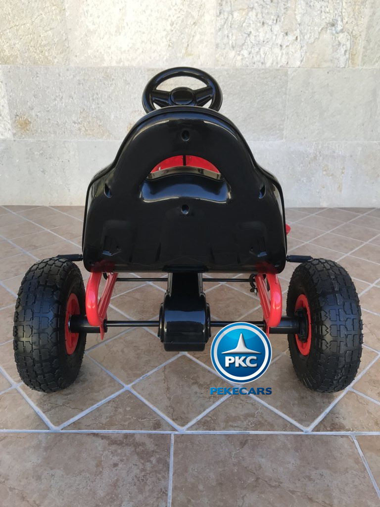 KART A PEDALES FLAME ROJO TRASERA width=