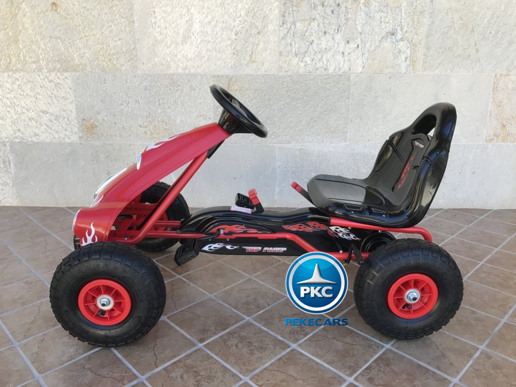 KART A PEDALES FLAME ROJO LATERAL IZQUIERDO