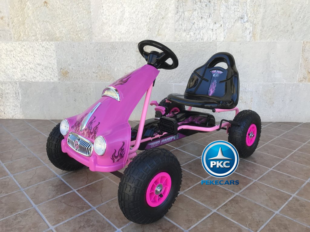 KART A PEDALES FLAME ROSA LATERAL IZQUIERDO