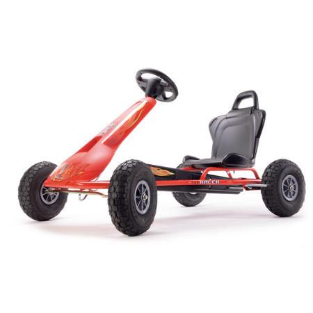 KART A PEDALES AIR RACER ROJO FUEGO LATERAL IZQUIERDO width=
