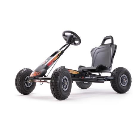 KART A PEDALES AIR RUNNER NEGRO FUEGO LATERAL IZQUIERDO width=