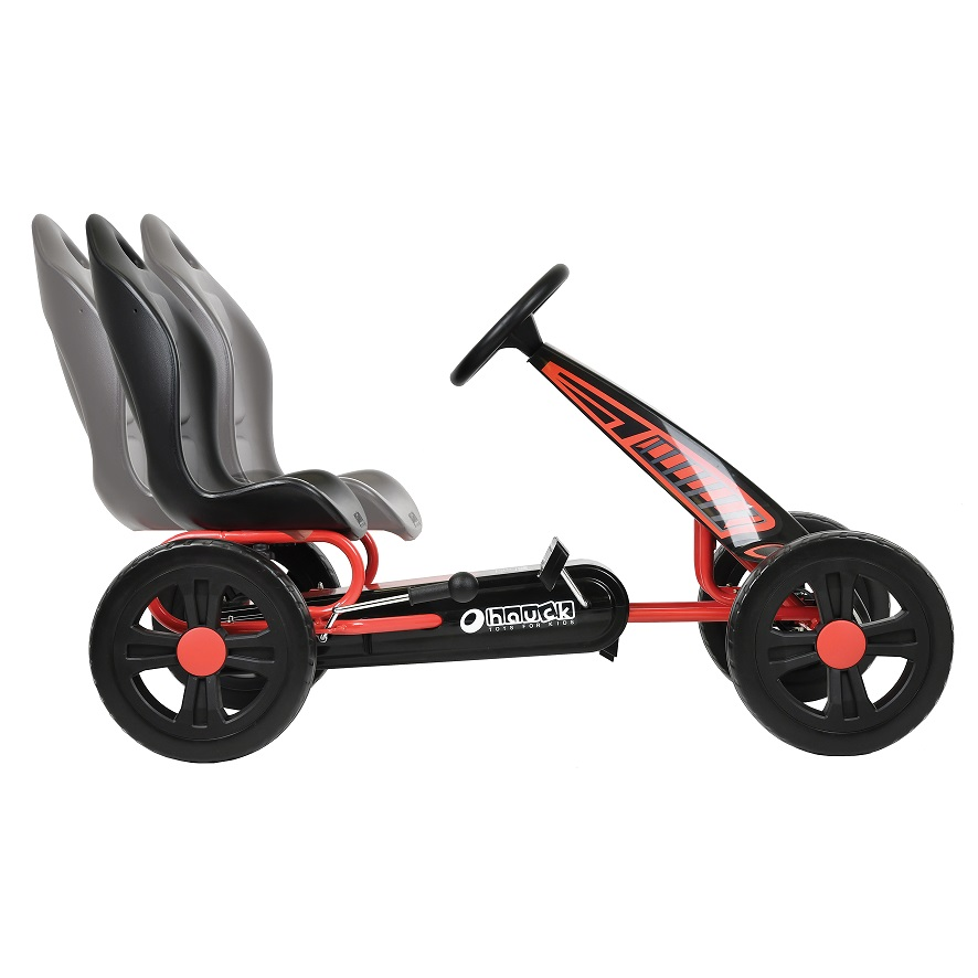 Kart a pedales Cyclone Rojo - asiento regulable