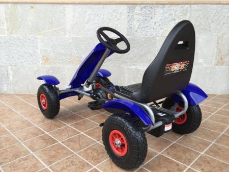 KART A PEDALES F618 AZUL TRASERA