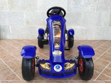 KART A PEDALES F618 AZUL FRONTAL