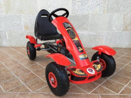 KART A PEDALES F618 ROJO LATERAL DERECHO