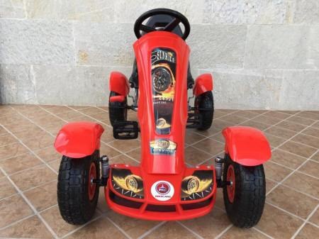 KART A PEDALES F618 ROJO FRONTAL