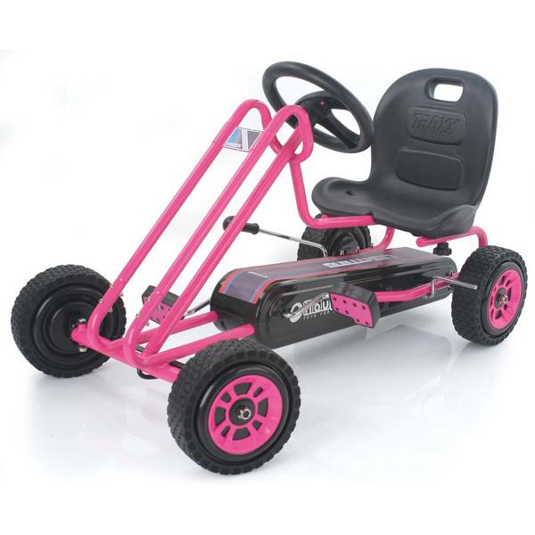 Kart a pedales Lightning Rosa - vista lado opuesto width=