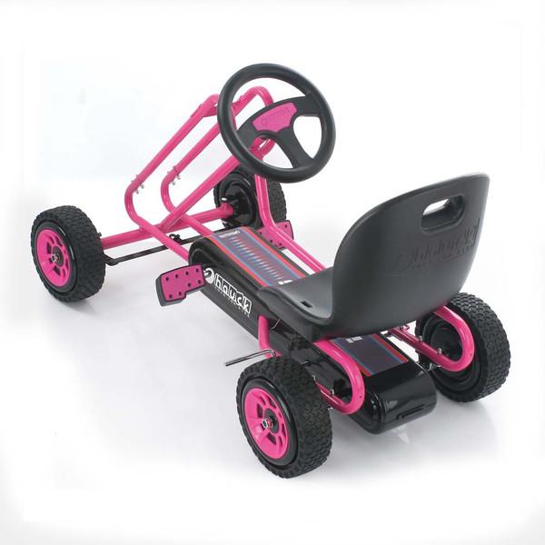 Kart a pedales Lightning Rosa - vista trasera width=