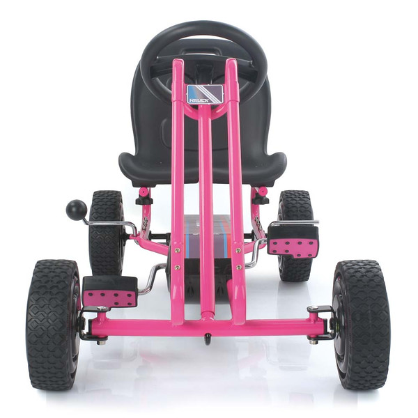 Kart a pedales Lightning Rosa - vista frontal width=