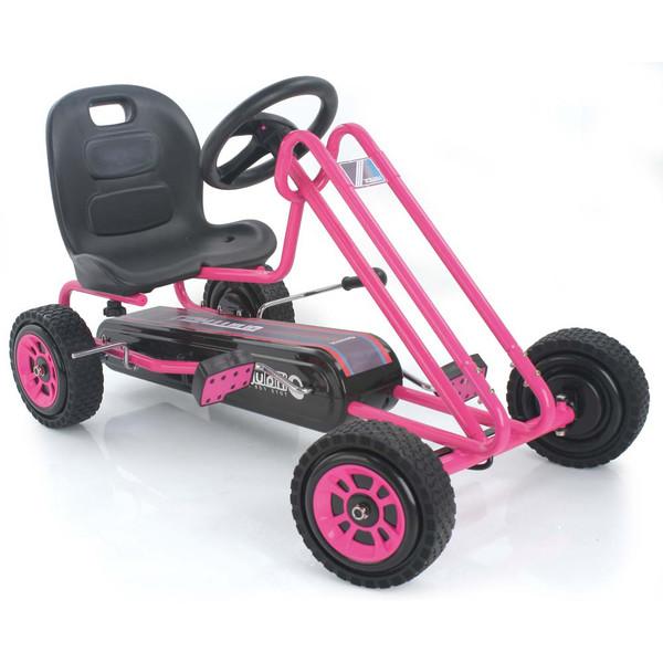 Kart a pedales Lightning Rosa width=