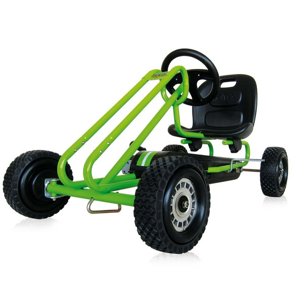 Kart a pedales Lightning verde - vista lado opuesto