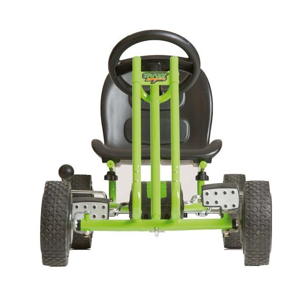 Kart a pedales Lightning verde - vista frontal