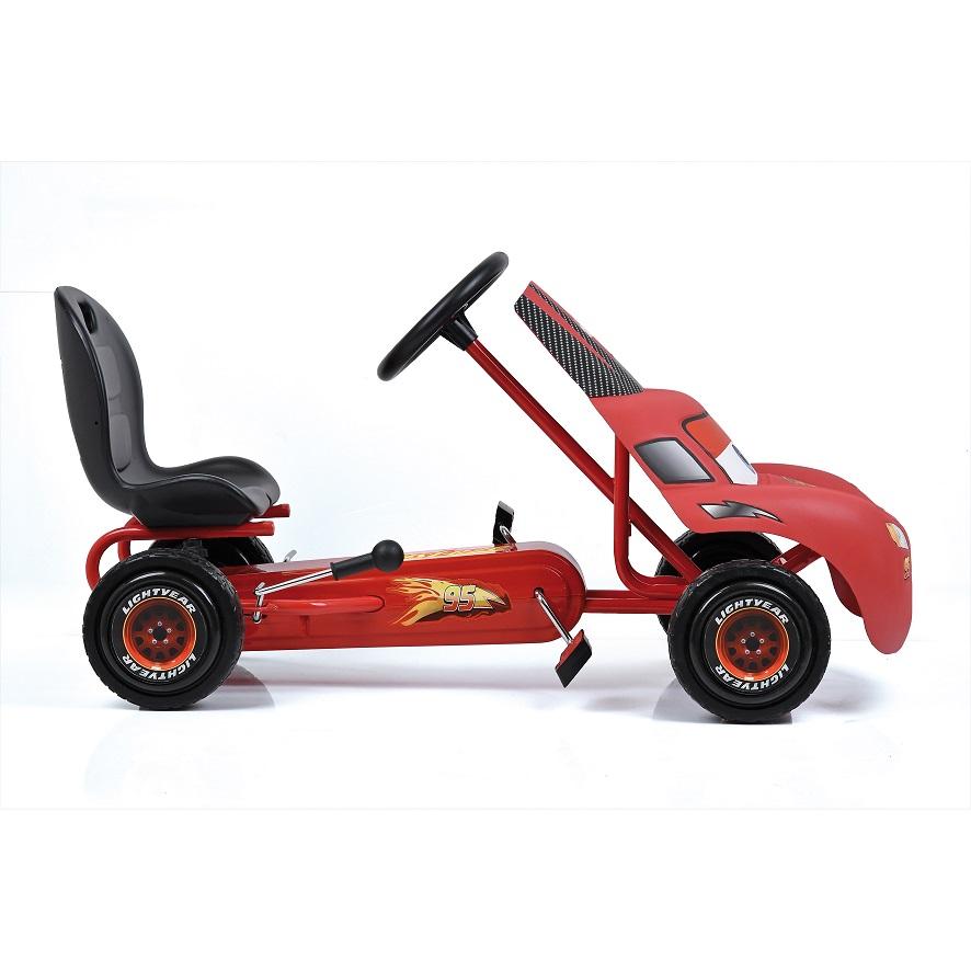 Kart a pedales McQueen de Cars - vista lateral width=