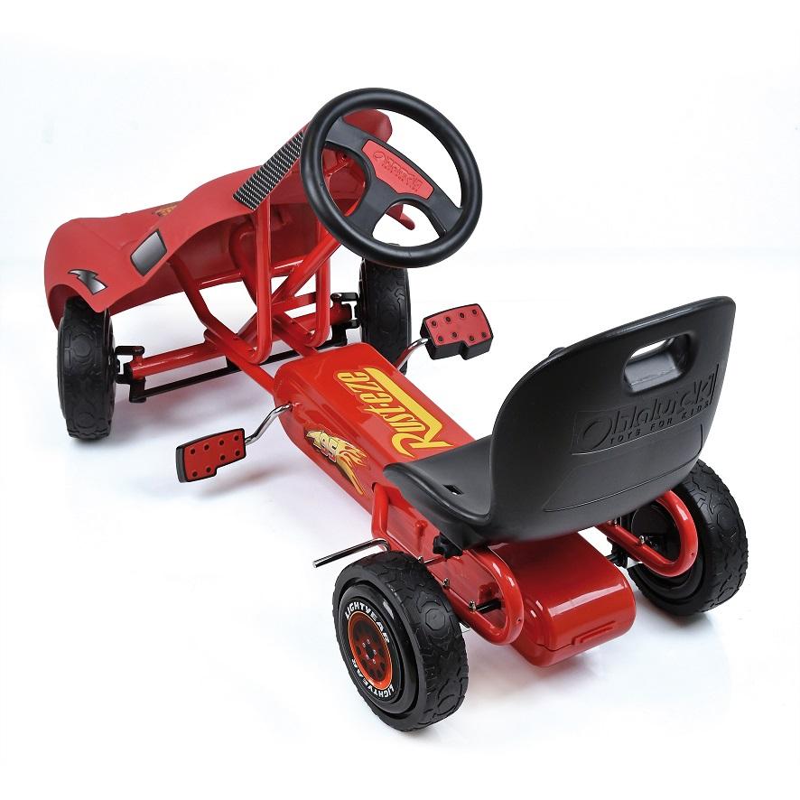 Kart a pedales McQueen de Cars - vista trasera width=