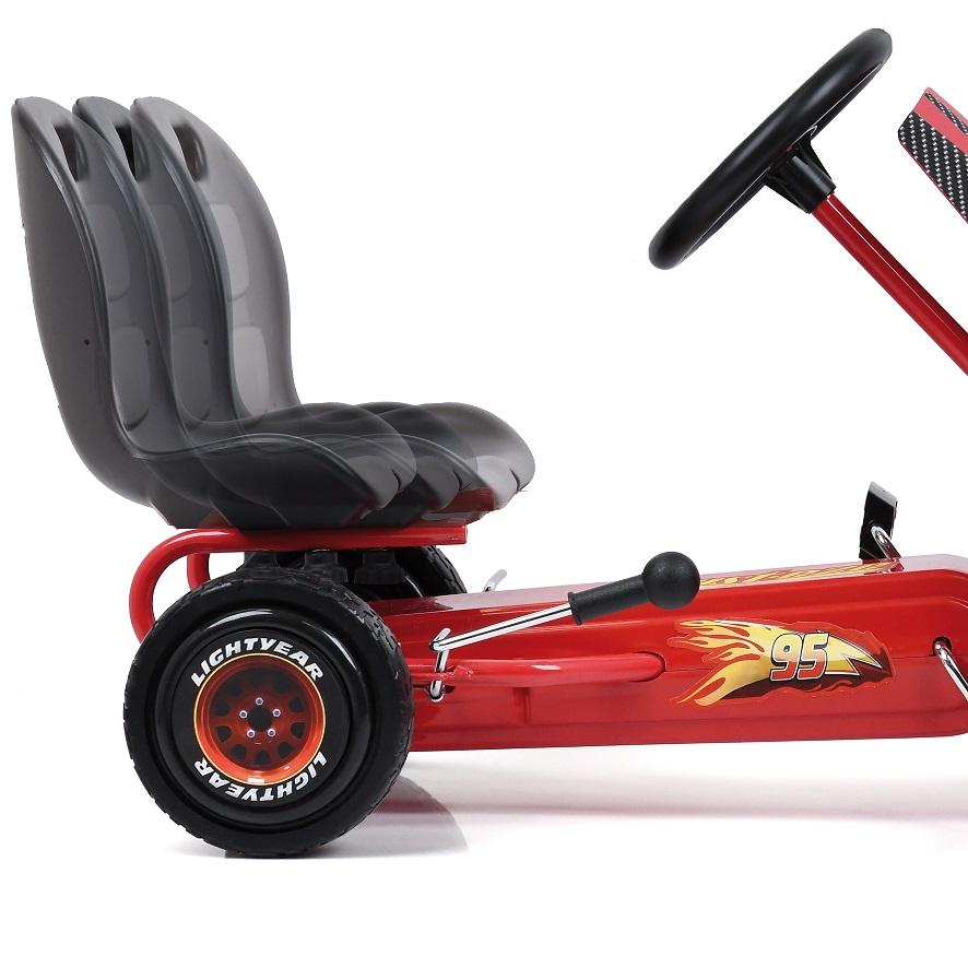 Kart a pedales McQueen de Cars - asiento regulable width=