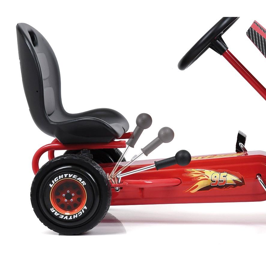 Kart a pedales McQueen de Cars - palanca de freno width=
