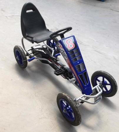 KART A PEDALES F81 AZUL LATERAL DERECHO