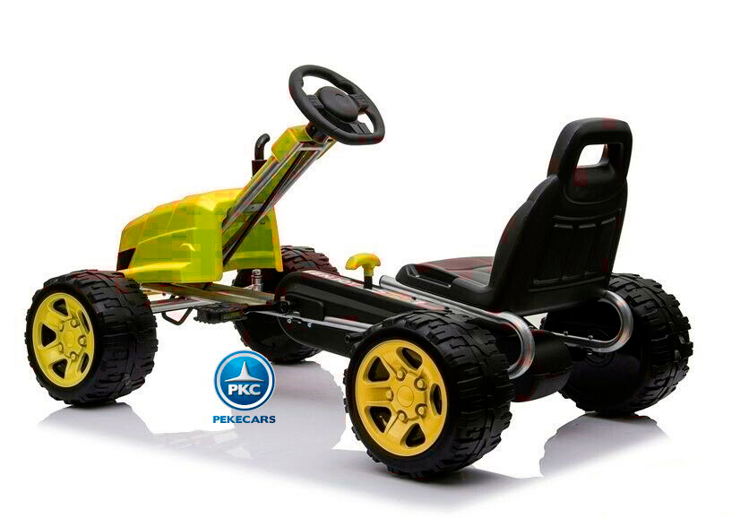 Kart a pedales CAT style Amarillo
