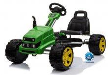 Kart a pedales John deere style verde