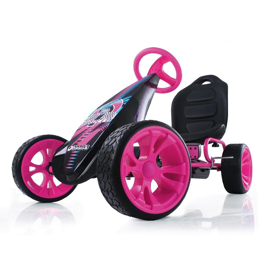 Kart a pedales Sirocco Rosa - vista rueda width=