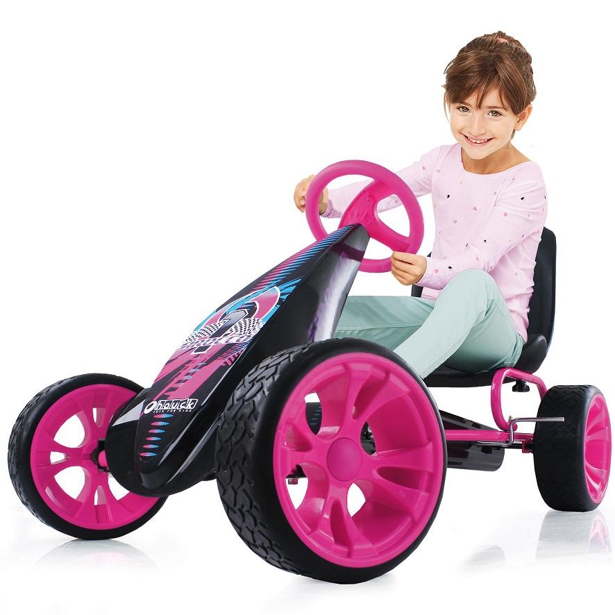Kart a pedales Sirocco Rosa - con niño width=