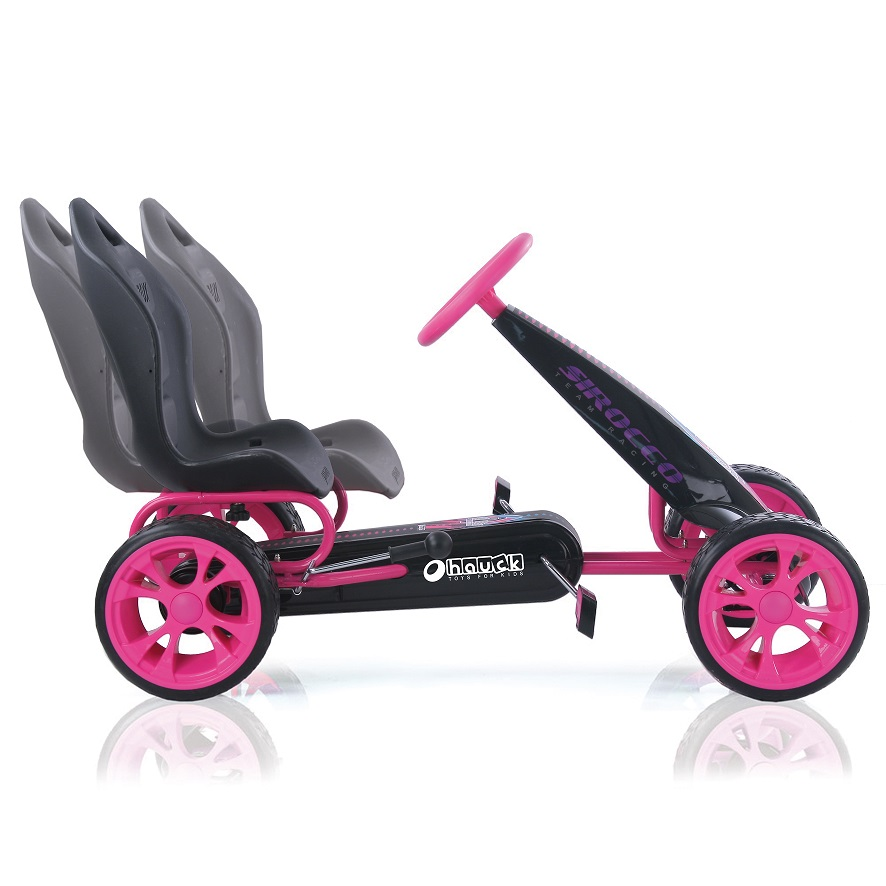 Kart a pedales Sirocco Rosa - asiento regulable width=