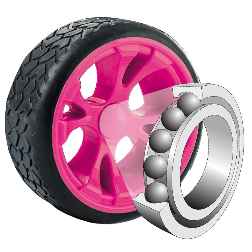 Kart a pedales Sirocco Rosa - rodamiento de bolas width=