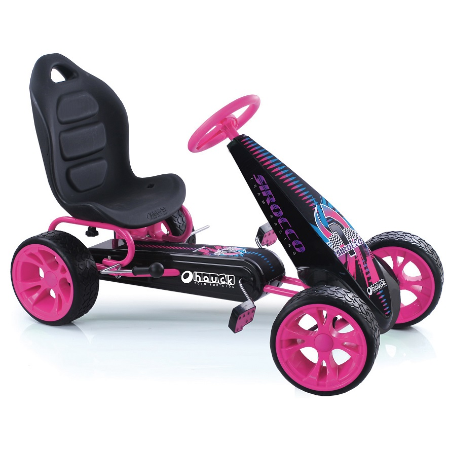 Kart a pedales Sirocco Rosa width=