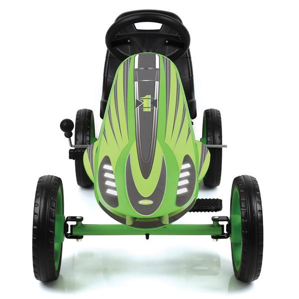 Kart a pedales Speedster Verde - Vista frontal
