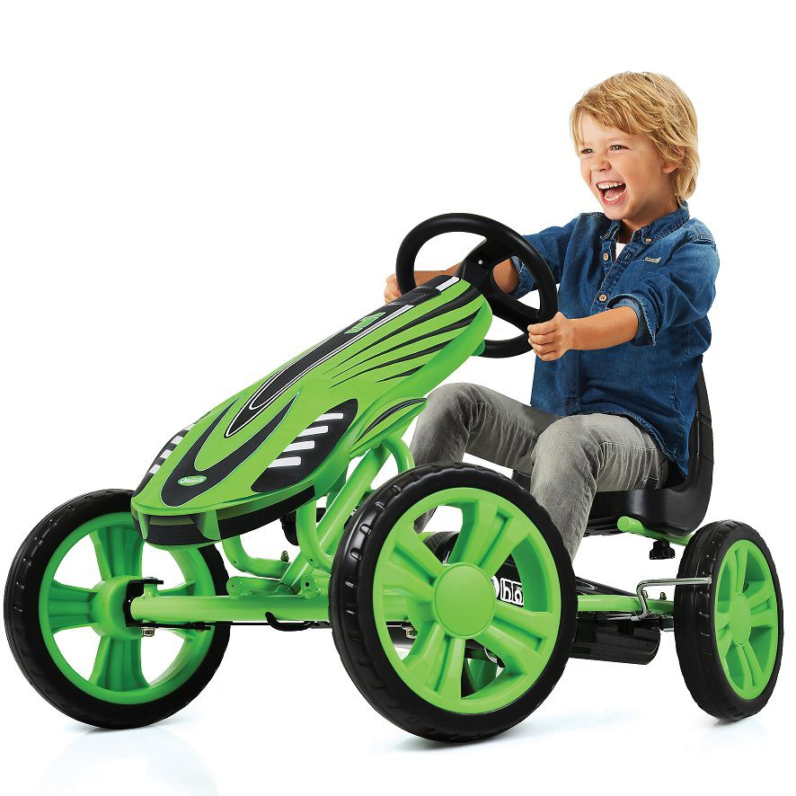 Kart a pedales Speedster Verde - vista con niño