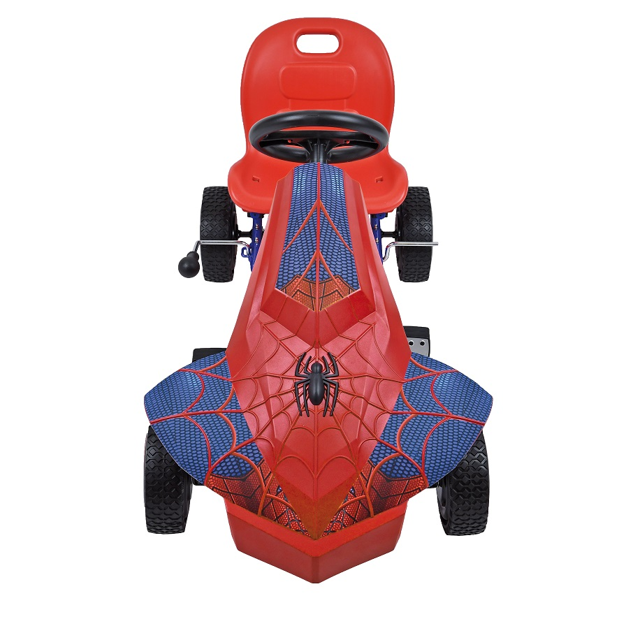Kart a pedales Spiderman - vista frontal
