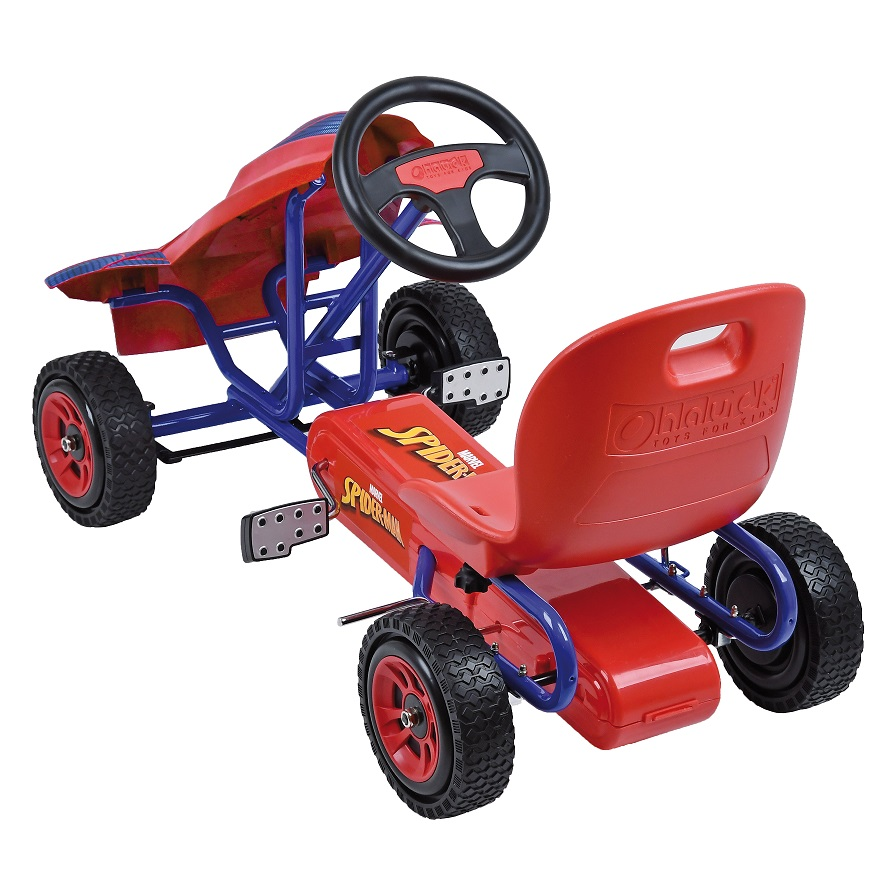 Kart a pedales Spiderman - vista trasera width=