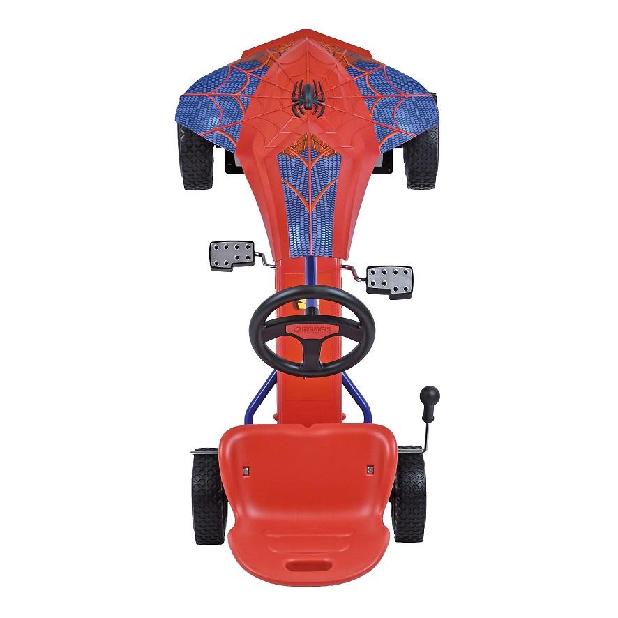 Kart a pedales Spiderman - vista aerea width=