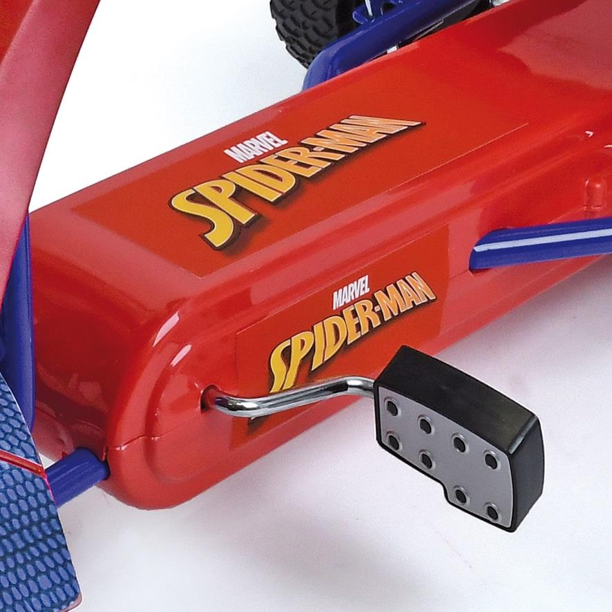 Kart a pedales Spiderman - zoom pedales width=