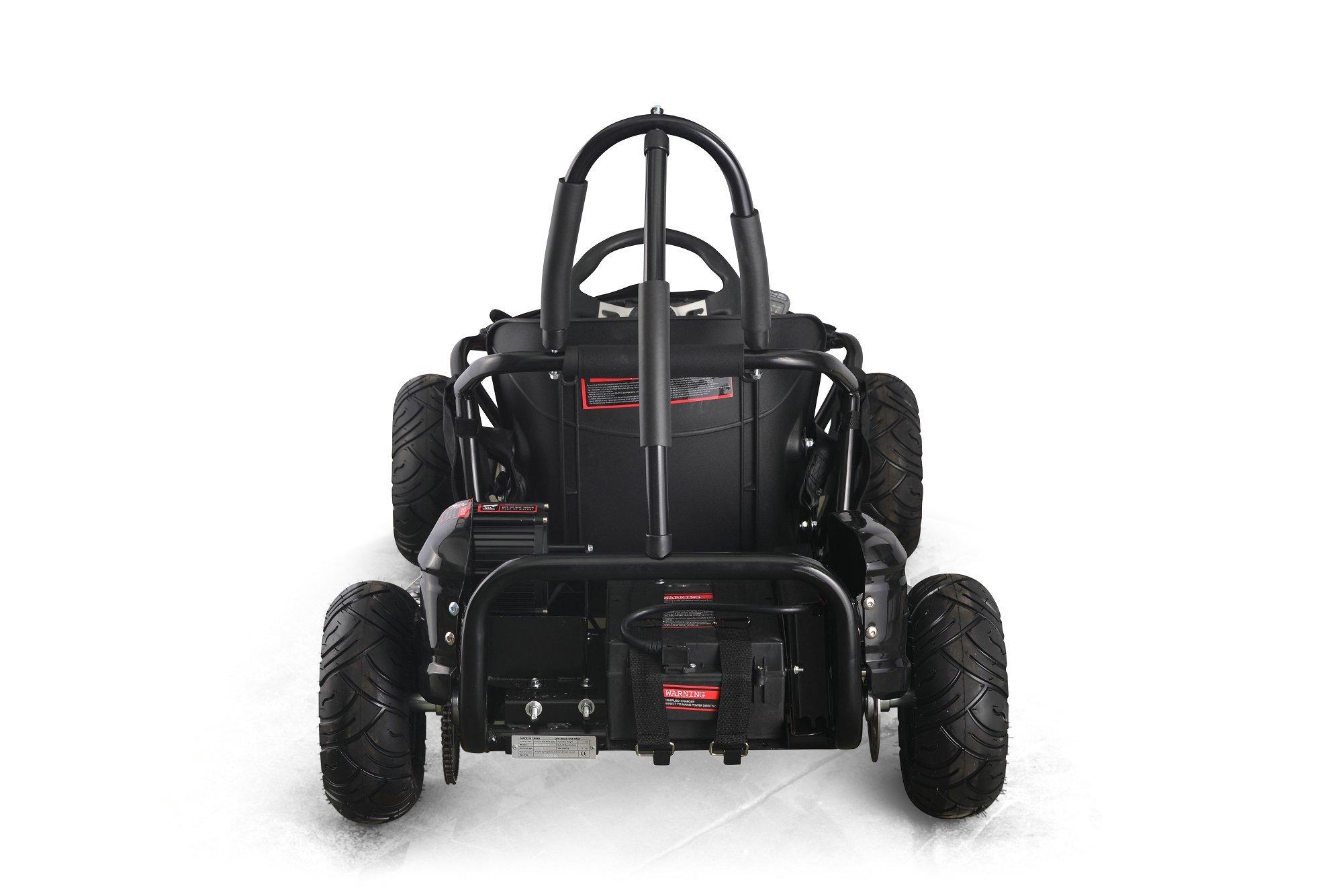 Kart electrico Pekecars 48V 1000W Negro
