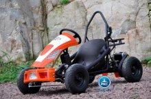 kart eléctrico 500w 36v naranja pekecars