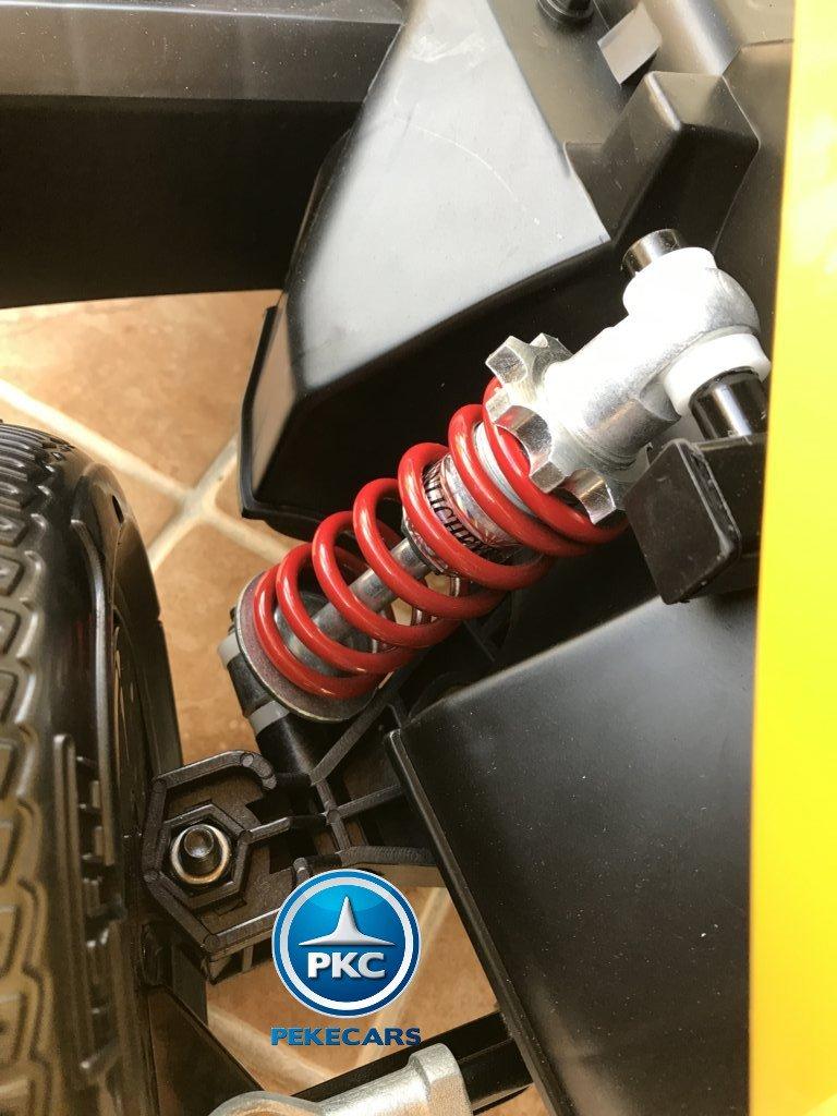 Detalle del amortiguador del pekecars go-kart 12v 2.4g rc amarillo width=