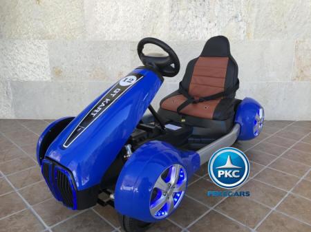 Pekecars go-kart 12v 2.4g rc azul width=