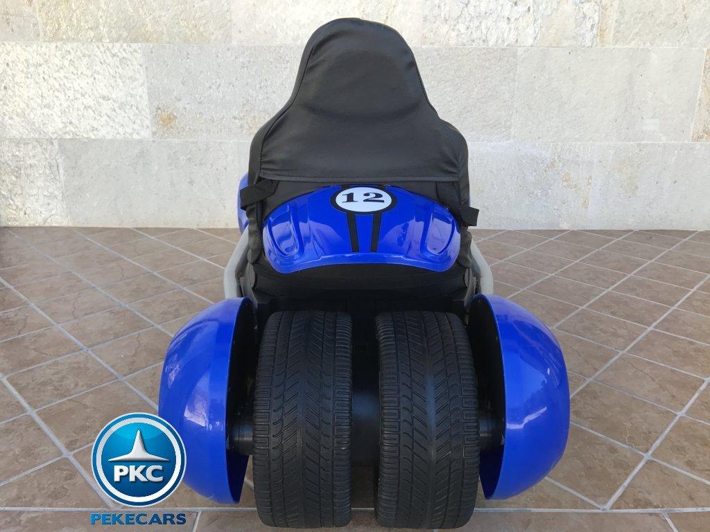 Parte trasera Pekecars go-kart 12v 2.4g rc azul width=