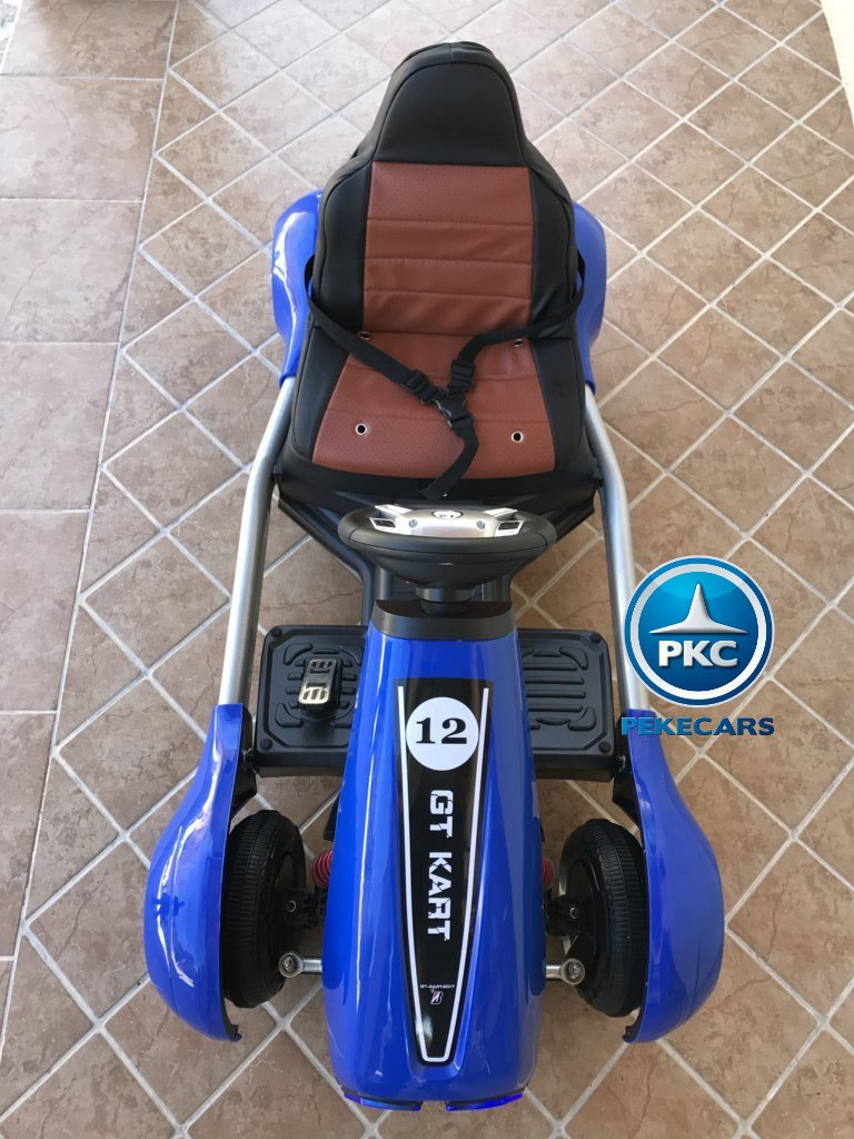 Imagen frontal Pekecars go-kart 12v 2.4g rc azul width=
