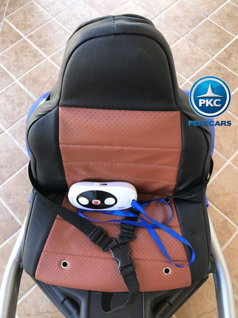 Asiento y mando Pekecars go-kart 12v 2.4g rc azul width=