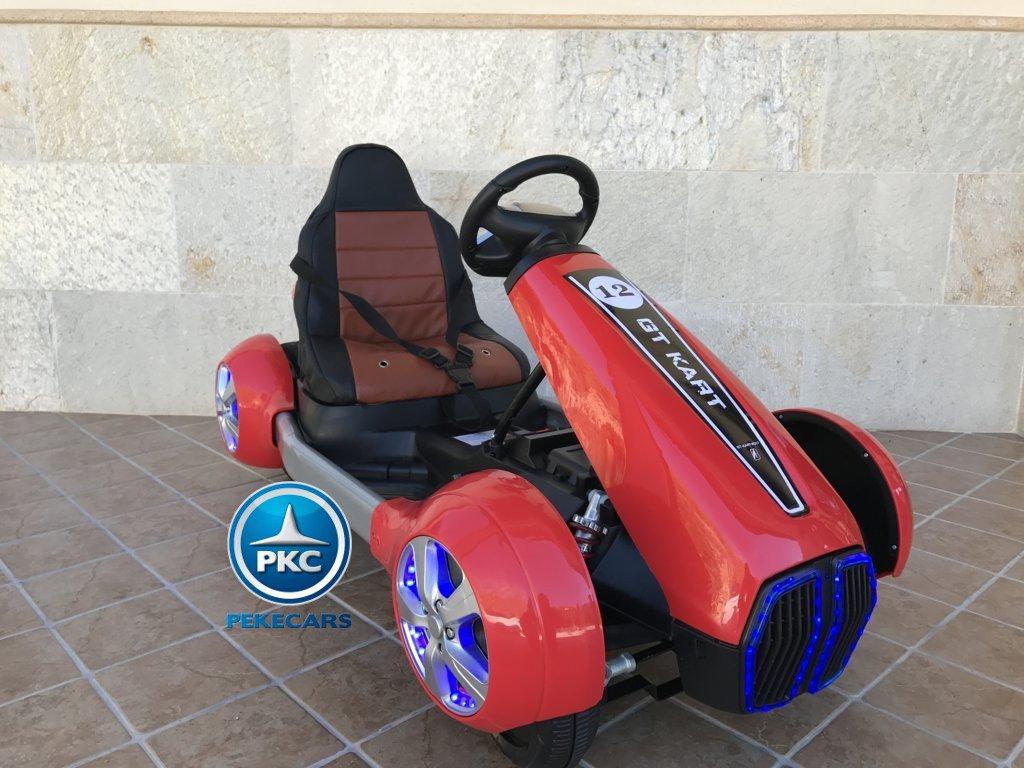Vista lateral del Pekecars go-kart 12v 2.4g rc rojo width=