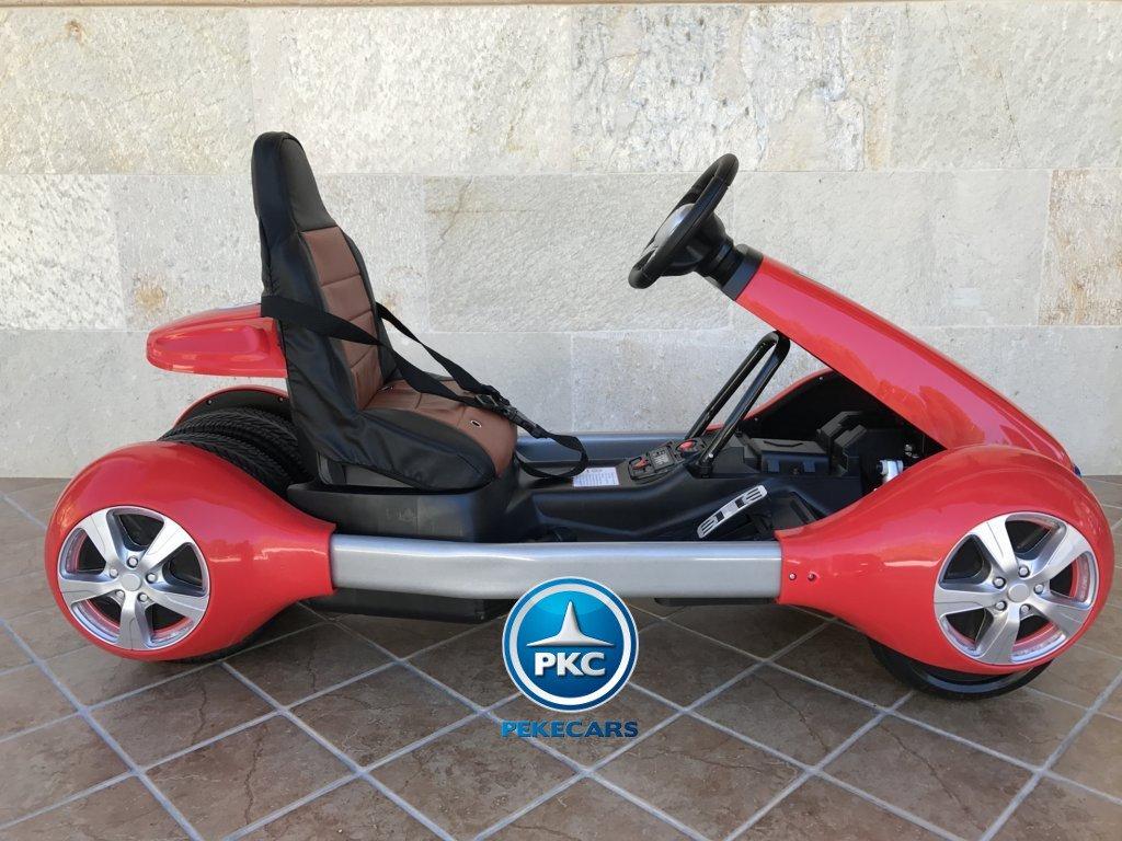 Imagen parte derecha del Pekecars go-kart 12v 2.4g rc rojo width=