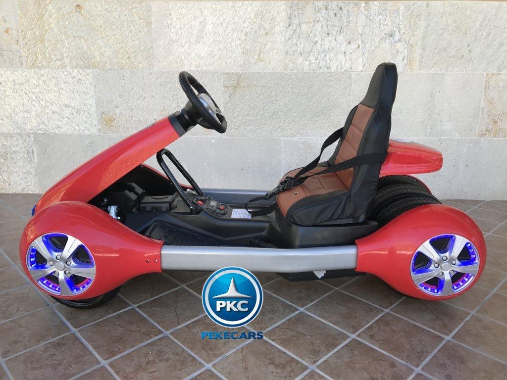 Imagen parte izquierda del Pekecars go-kart 12v 2.4g rc rojo width=